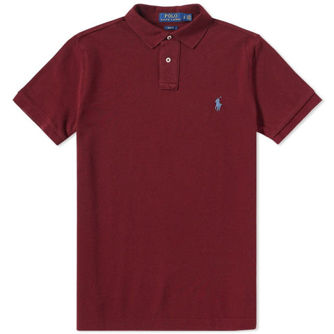 Ralph Lauren Men's Short Sleeved 'POLO' Shirt - Fall Burgundy