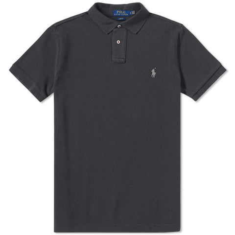 Ralph Lauren Men's Short Sleeved 'POLO' Shirt - Carbon Grey