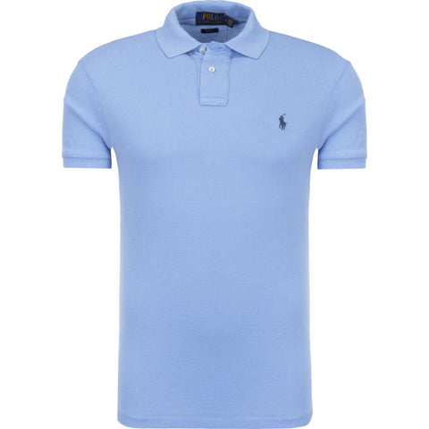 Ralph Lauren Men's Short Sleeved 'POLO' Shirt - Harbour Blue