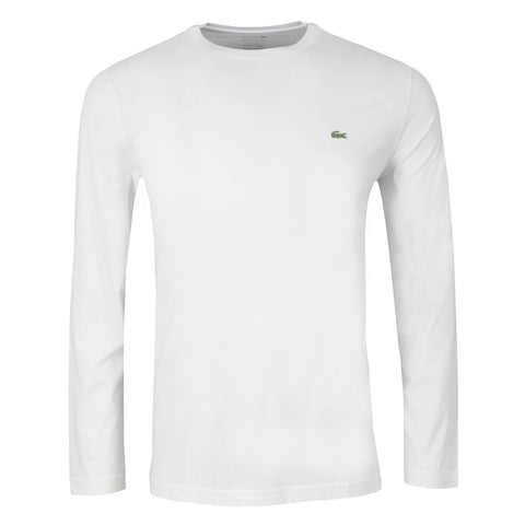 Lacoste Men's Classic Long Sleeved T-Shirt - White - M-XXL