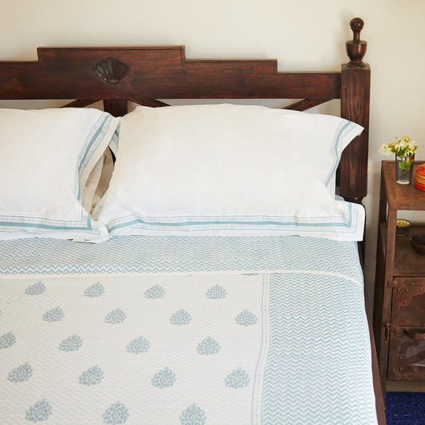Teal Blue with matching Angela Pillow Cases