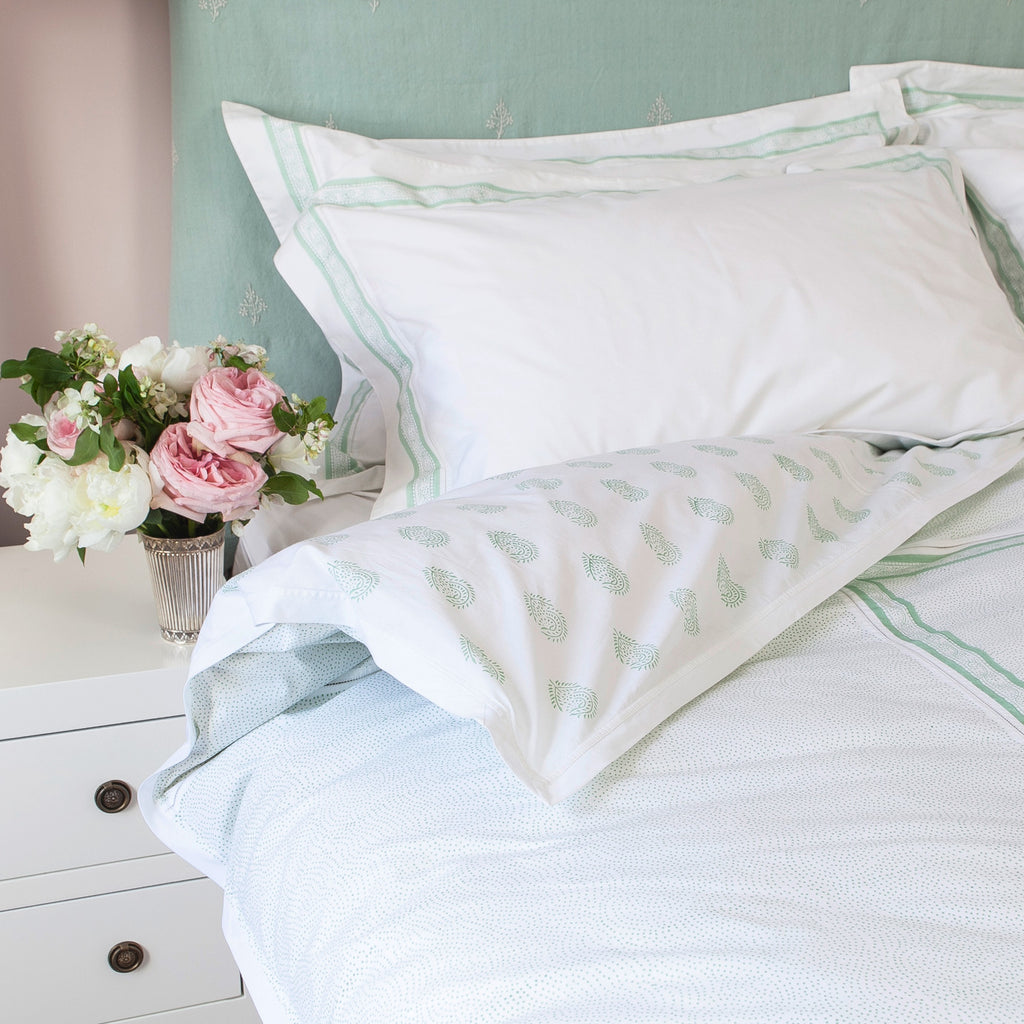 Fern Green with matching Camila Pillow Cases