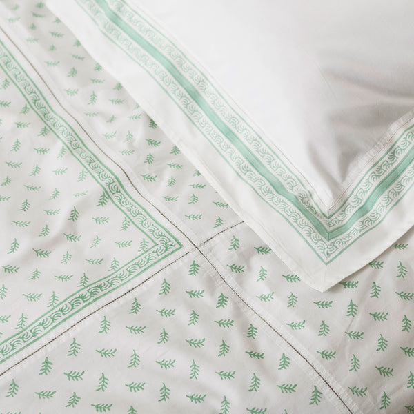 Fern Green with matching Pia Feather Duvet Cover