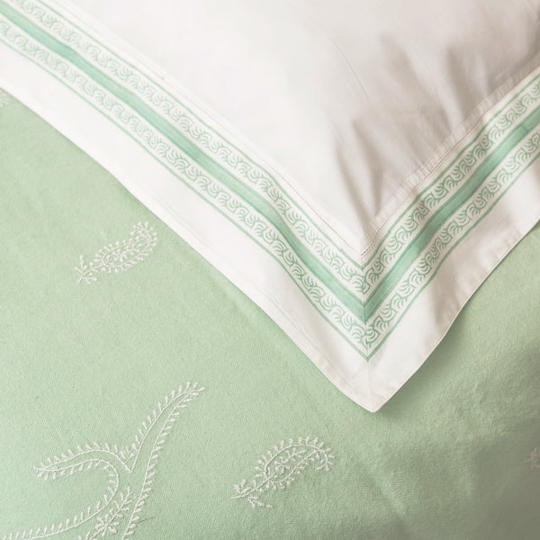 Fern Green with Scandinavian Green Kashmiri Blanket