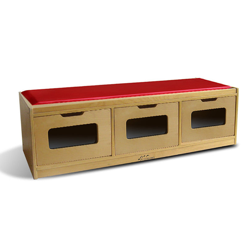 Bench Storage Unit With 3-Drawer  sc 1 st  Preschool of America Store & Bench Storage Unit With 3-Drawer u2013 Preschool of America Store