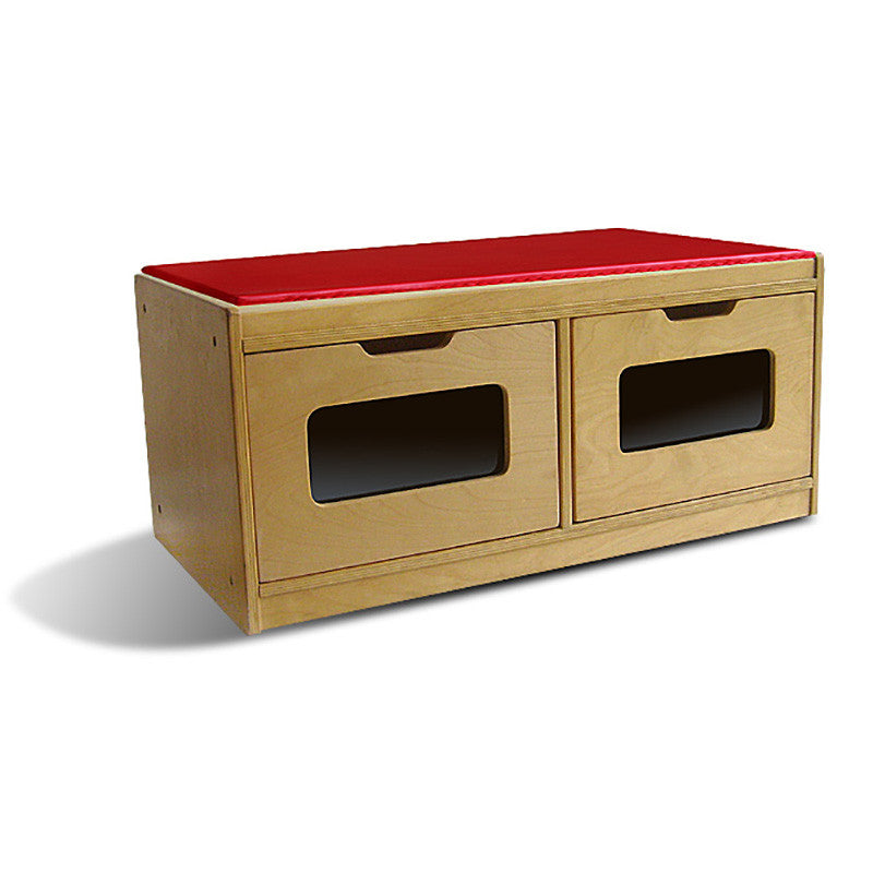 Bench Storage Unit with 2-Drawer  sc 1 st  Preschool of America Store & Bench Storage Unit with 2-Drawer u2013 Preschool of America Store
