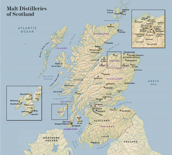 Single Malt: A Guide to the Whiskies of Scotland on scotland castles map, scotland lochs map, scotland golf map, scotland hostels map, scotland agriculture map, scotland airports map, scotland attractions map, scotland whisky regions map, scotland mountains map, scotland ferries map,