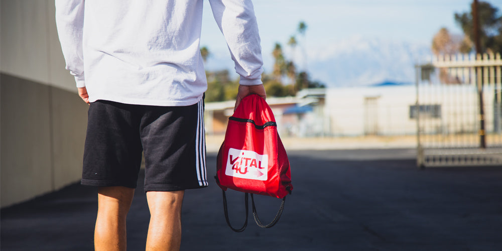 Vital 4U Drawstring Bag Red Sport Bag