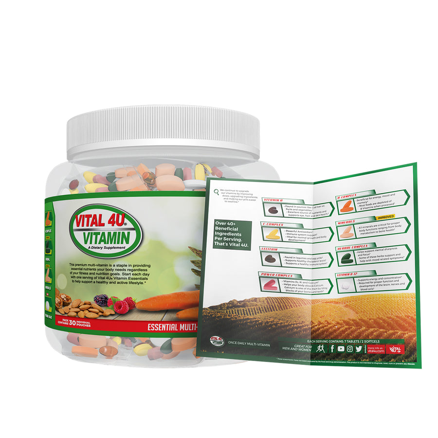 Vital 4u Vitamin - Essentials 30 Day Supply Green