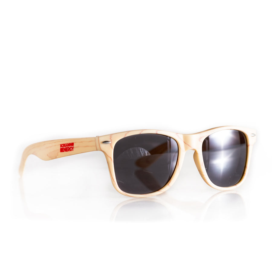 Vital 4U Sunglasses Runners Wayfarer Wood grain Screamin Energy