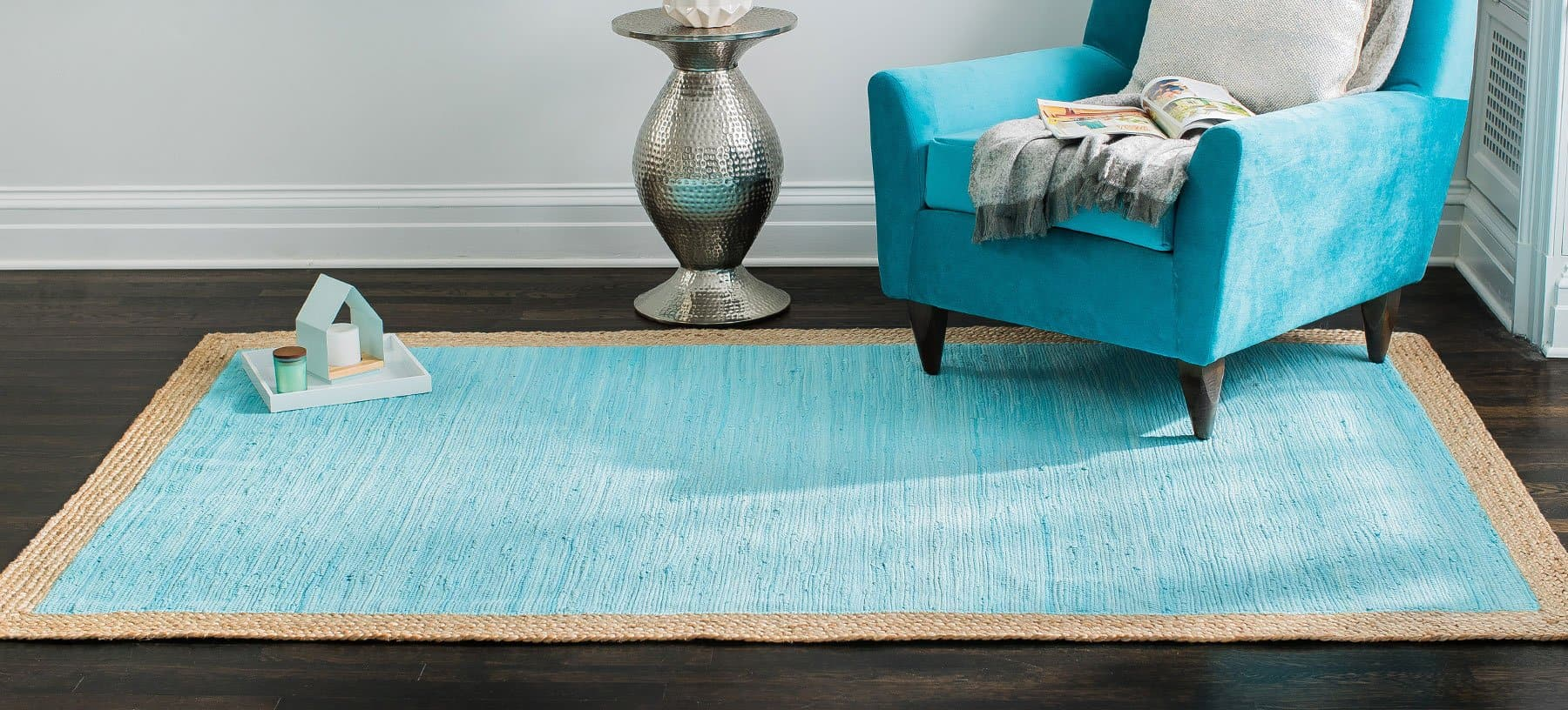 Aganippe Hand-Loomed Blue Area Rug