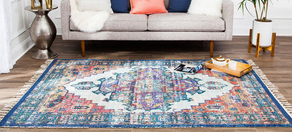 Kuba Distressed Area Rug