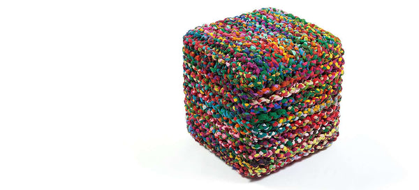 Rainbow Connection Pouf Square