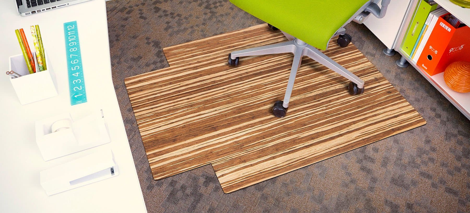 Strand Woven Bamboo Roll Up Chairmat