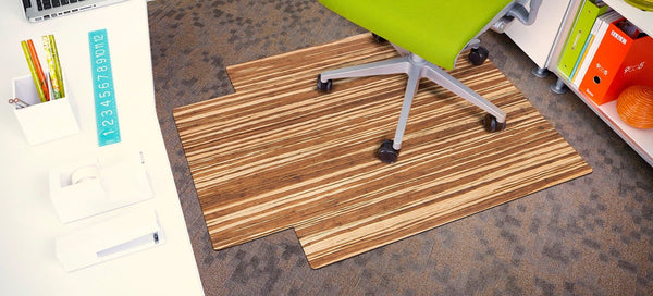 Strand-Woven Bamboo Roll-Up Chairmat