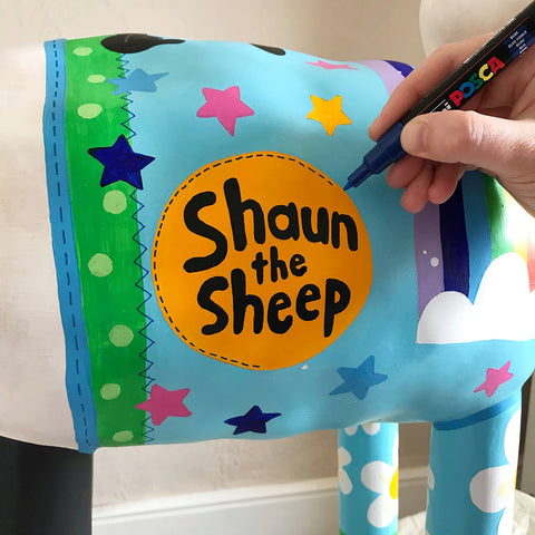 shaun the sheep being painted
