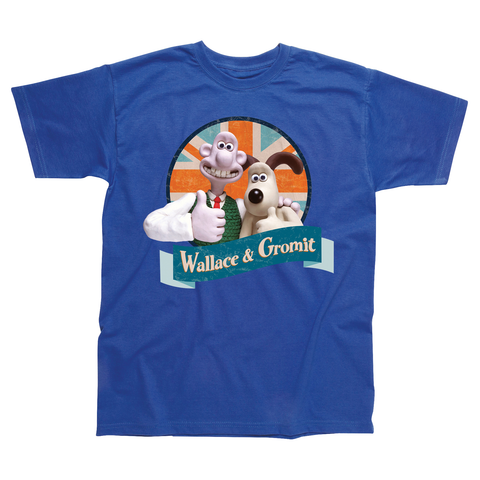Wallace & Gromit Union Jack Children's T-shirt