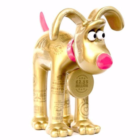 Gromit Unleashed legacy Gromit 'Fact's the way we did it Lad!' 3/4 image. Artist Gavin Strange