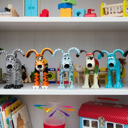 Join our Collectors Club! as a member you will get first access to any new figurines as well as the opportunity to purchase our limited Collectors only figurine Fact's the way to do it Lad. Picture features a range of Gromit Unleashed figruines.
