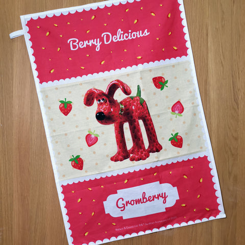 Gromberry 'Berry Delicious' Tea Towel