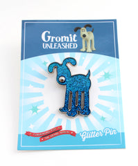 Gromit Unleashed Glitter Pin