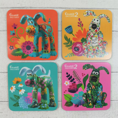 Gromit Unleashed Floral Collection Coaster Set