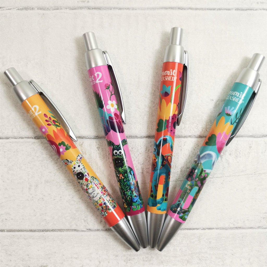Gromit Unleashed Floral Collection Pens