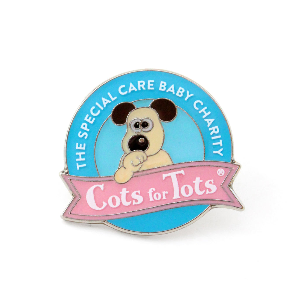 Cots for Tots pin badge