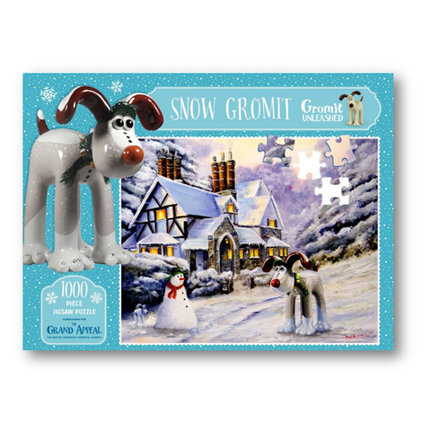 Snow Gromit Christmas Jigsaw Puzzle