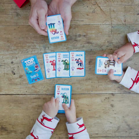 Gromit Top Trumps game