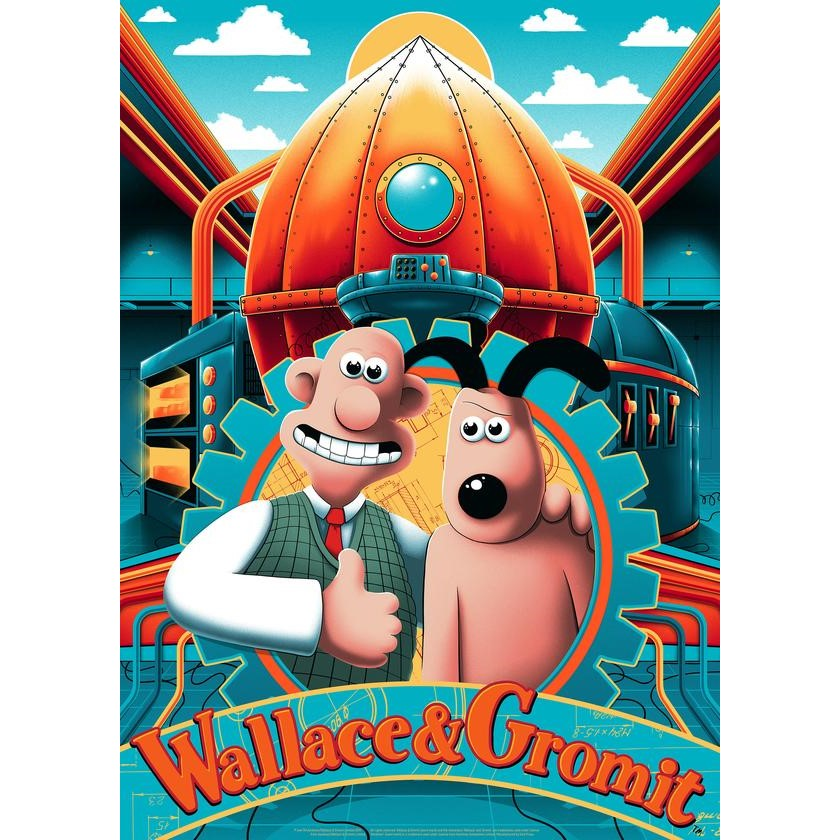 Wallace & Gromit limited edition Rocket Print by Arno Kiss