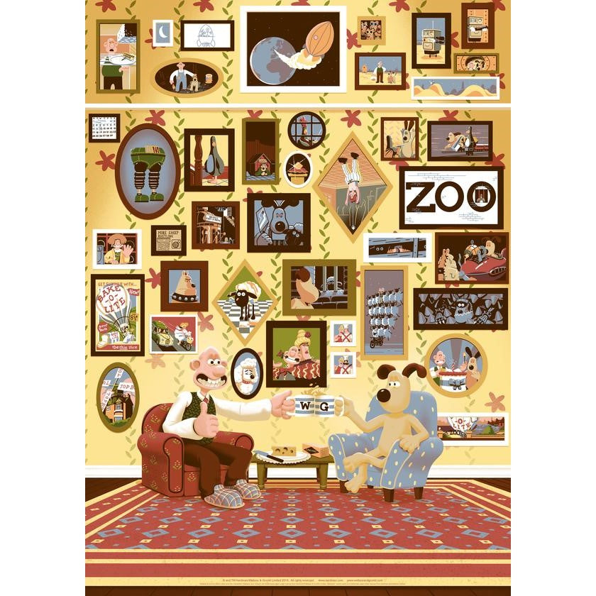 Wallace & Gromit limited edition 'Over the Years' Print