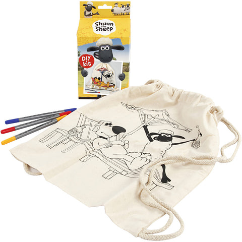 Shaun The Sheep DIY Drawstring Bag Craft Kit