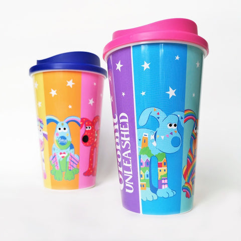 Colourful Gromit re-usable coffee cup