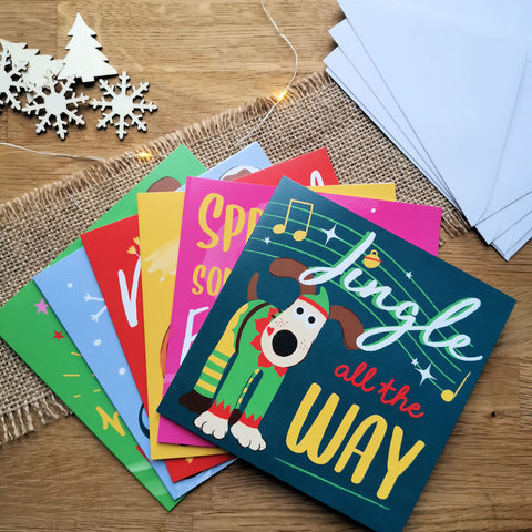Gromit Unleashed Pack of 12 Christmas Cards