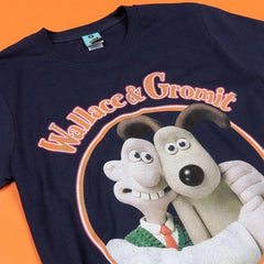 Wallace & Gromit Navy T-shirt unisex