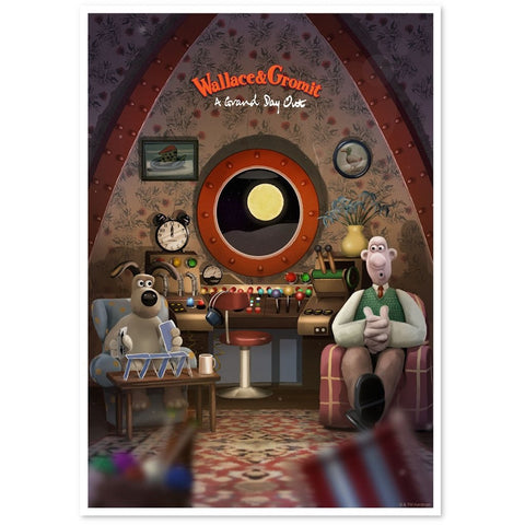 Wallace & Gromit: A Grand Day Out Print