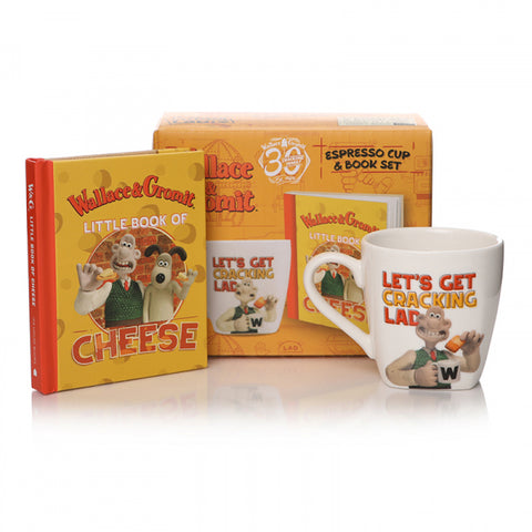 Wallace & Gromit Book & Espresso Cup Gift Set