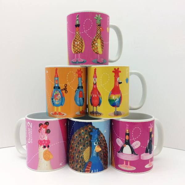 Gromit Unleashed 2 Sculpture Mugs Feathers