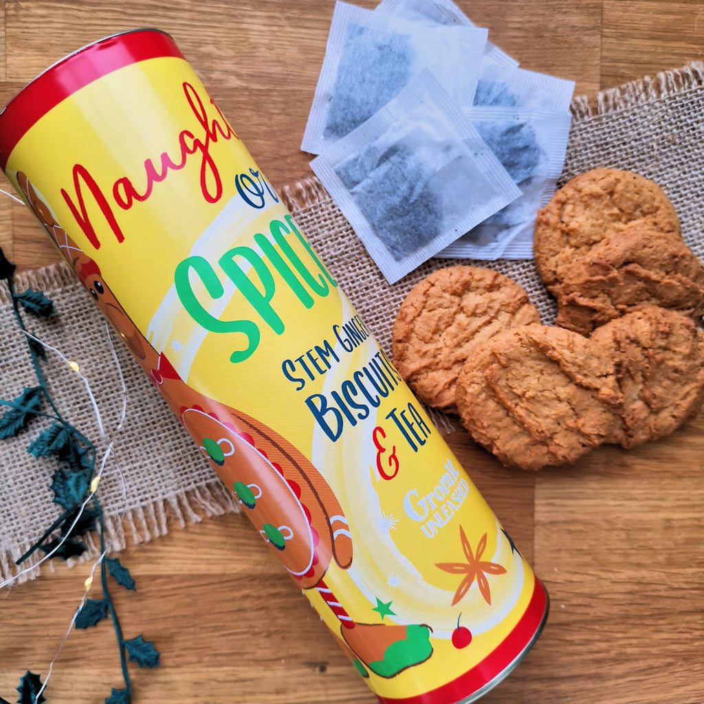 Gingerbird Stem Ginger Biscuits & Tea Gift Set