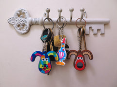 Gromit Unleashed 2 Rubber Keyrings