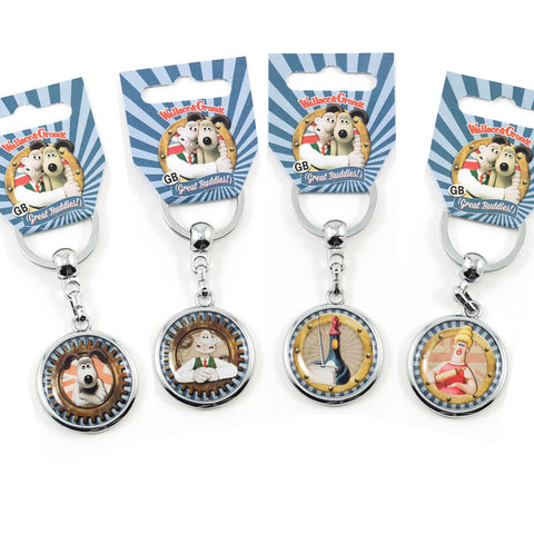 Wallace and Gromit Metal keyrings