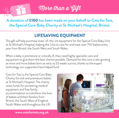 More than a Gift - Cots for Tots