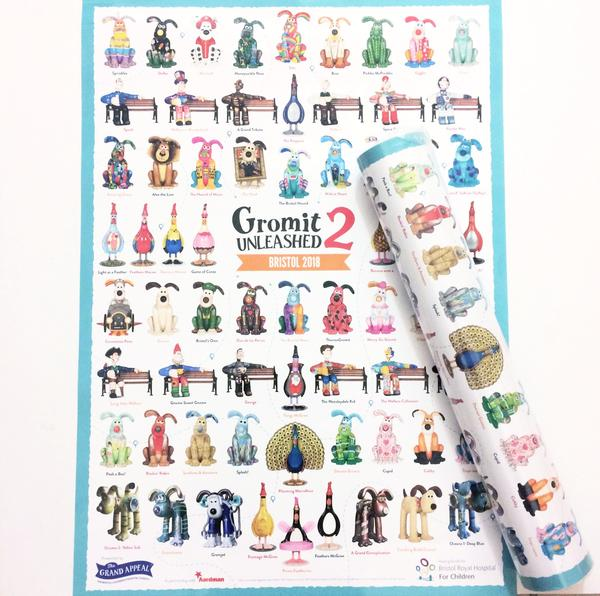 Gromit Unleashed 2 Sculpture Poster