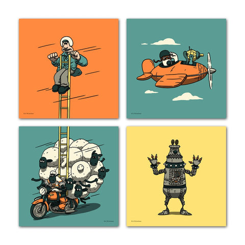 Wallace & Gromit Mini Prints - Series 2
