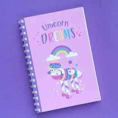 Sparkles the Unicorn A5 ringbound notebook