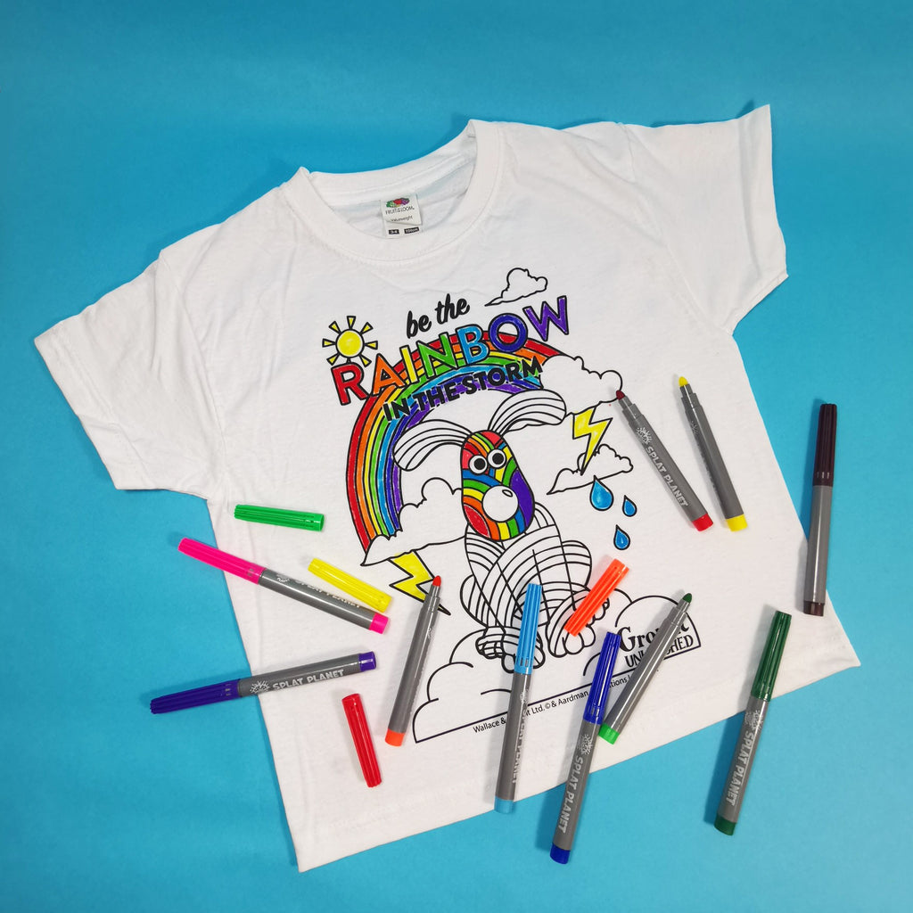 Colour Your Own Rainbow Gromit T-shirt