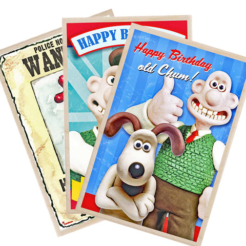 Wallace & Gromit Wooden Greetings Cards