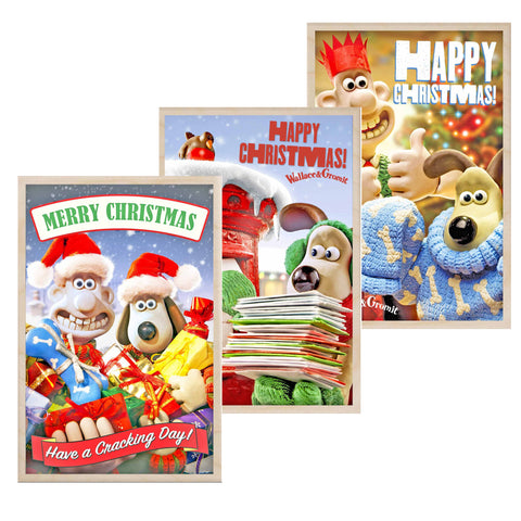 Wallace & Gromit Wooden Christmas Postcards