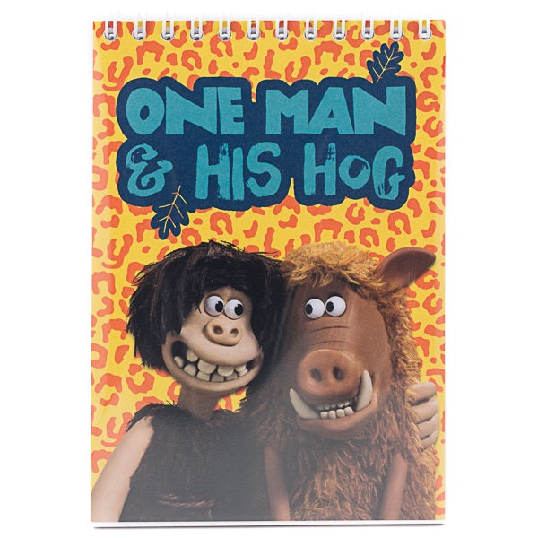 'One man and his hog' Early Man notebook